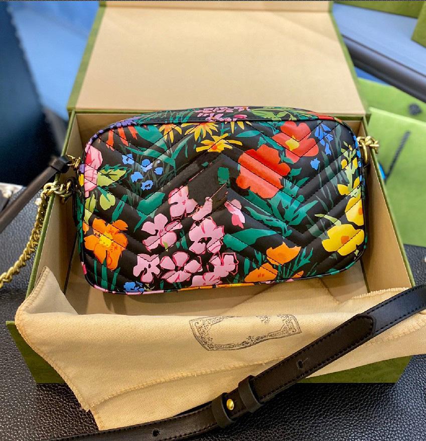 Sacs Messenger Mode avec imprimé floral coloré Sac de chaîne de chaîne à la mode Température à la mode Température Sac à bandoulière Femme WF2103052