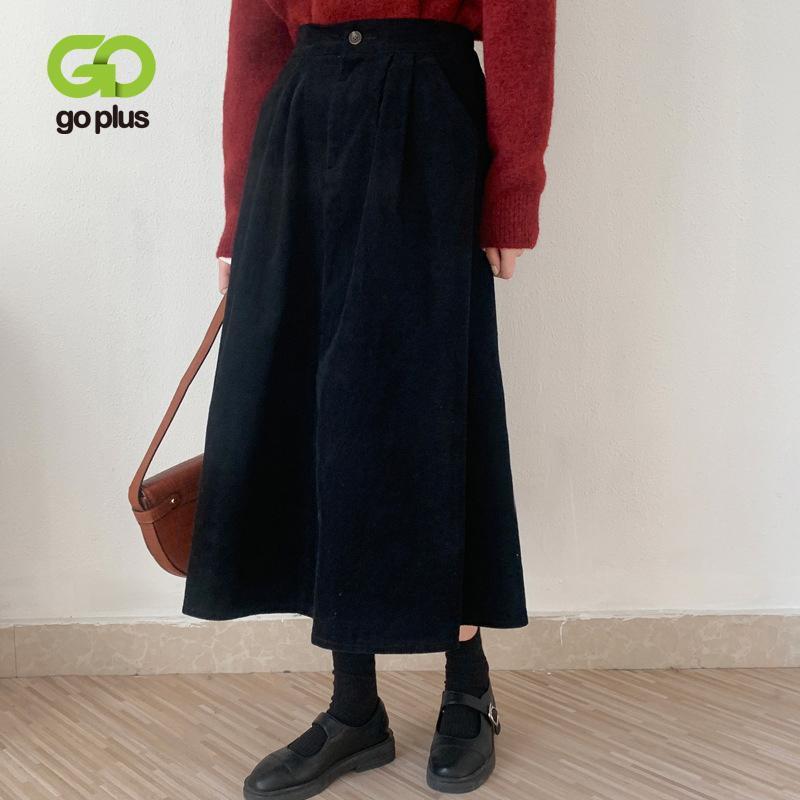 GOPLUS юбка Harajuku черные плиссированные юбки старинные ведуры длинные MIDI юбка Femme Jupe Falda Negra Tableada Rokjes Dames C10932