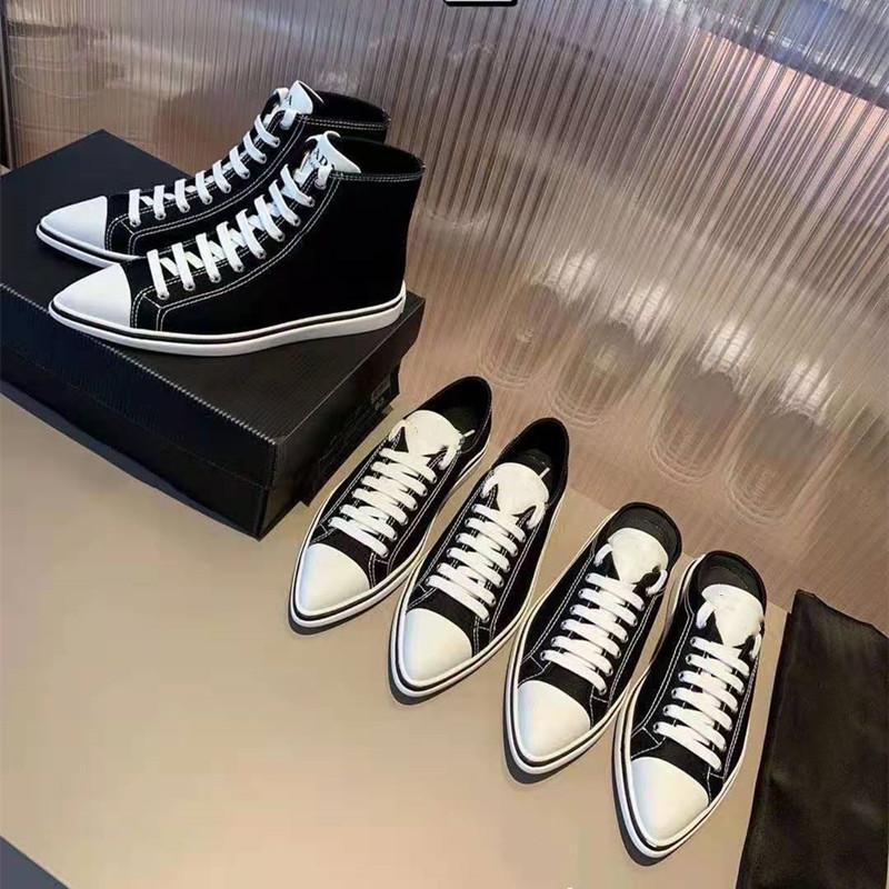 Primavera primavera 2021 Retro Casual Preto Lona Sapatos de Lazer, Toe Pointed, Sapatos De Baixa Ajuda, All-Match Sapatos Brancos Pequenos, Esportes