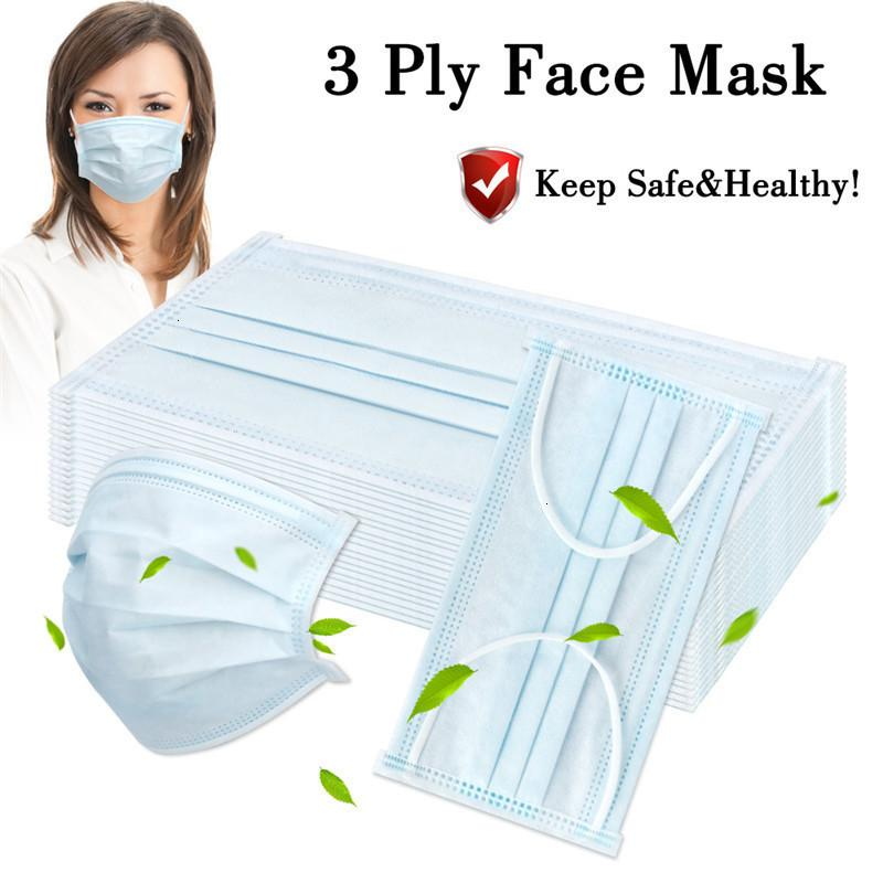 Слованная маска для качества одноразовые высокие 3 лица 3 слоя маска рта анти пыль личная защитная маска быстрая доставка в наличии FaceMask1