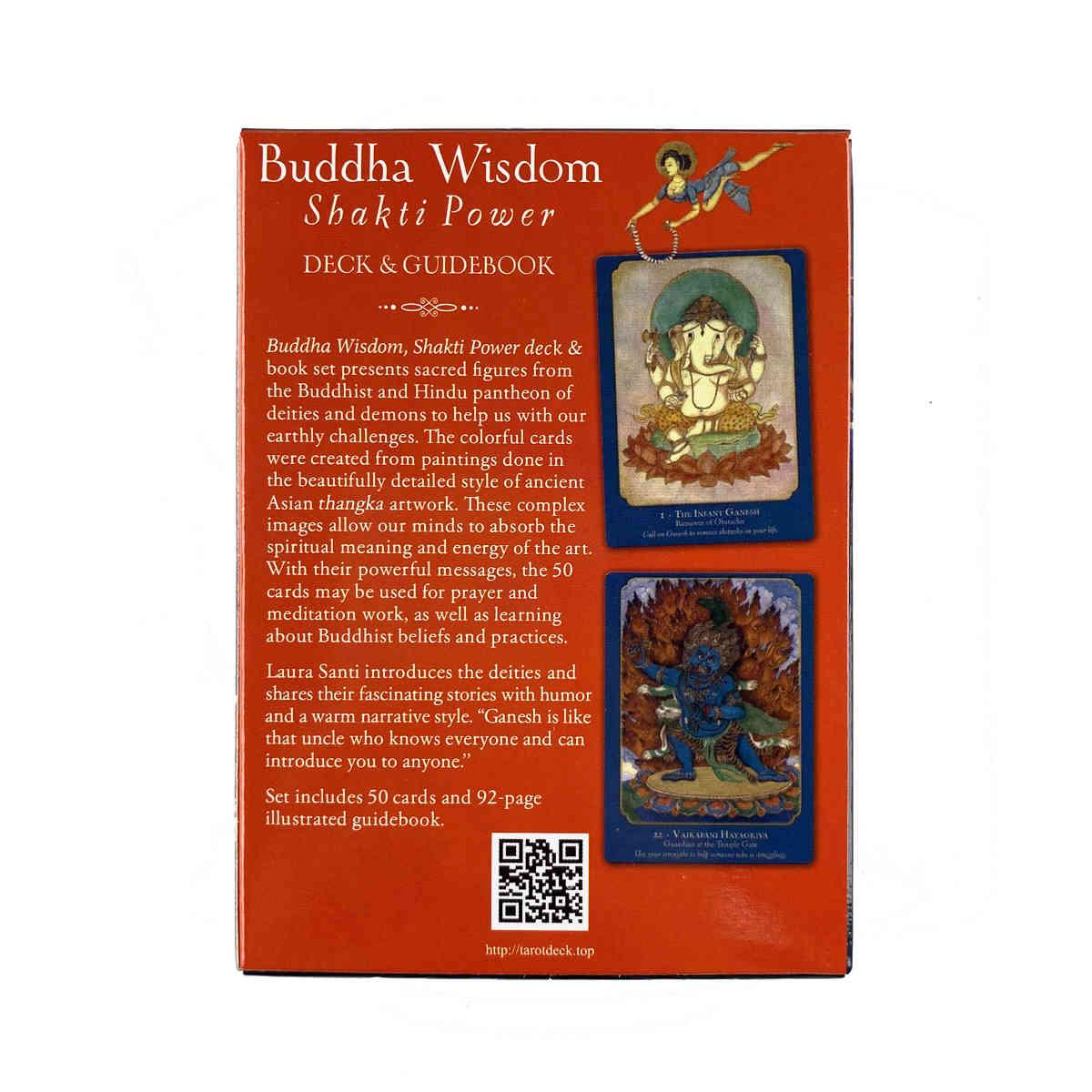 Buddha Wisdom Shakti Power Oracles Card Leisure Party Table Game High Quality Fortune-telling Prophecy Tarot Deck With Guide Book s1A1Y