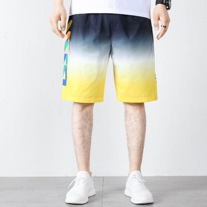 2021 pantalones cortos de verano Trend Capris Trendy Hip Hop Casual Hombres Pantalones de playa