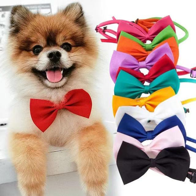 Dogs Accessories Pet Kawaii Dog Cat Necklace Adjustable Strap for Cat Collar Pet Dog Bow Tie Puppy Bow Ties Dog Pet Supplies