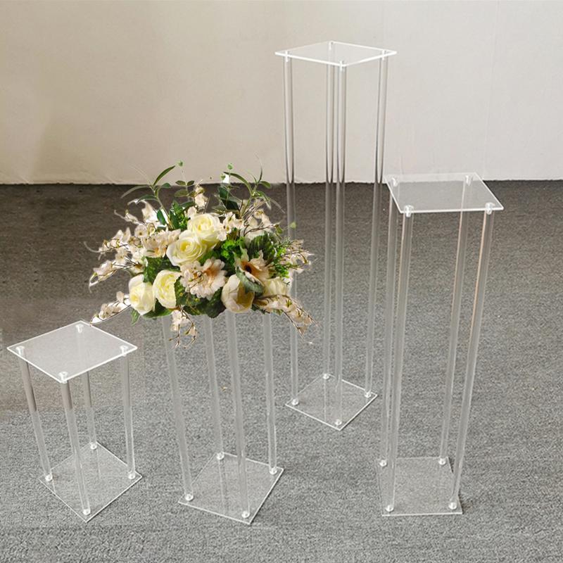 Tabelle Blumengestell 40/80/80/100 cm Hohe Acrylkristall Hochzeitsstraße Blei Hochzeit Ereignis Party Dekoration