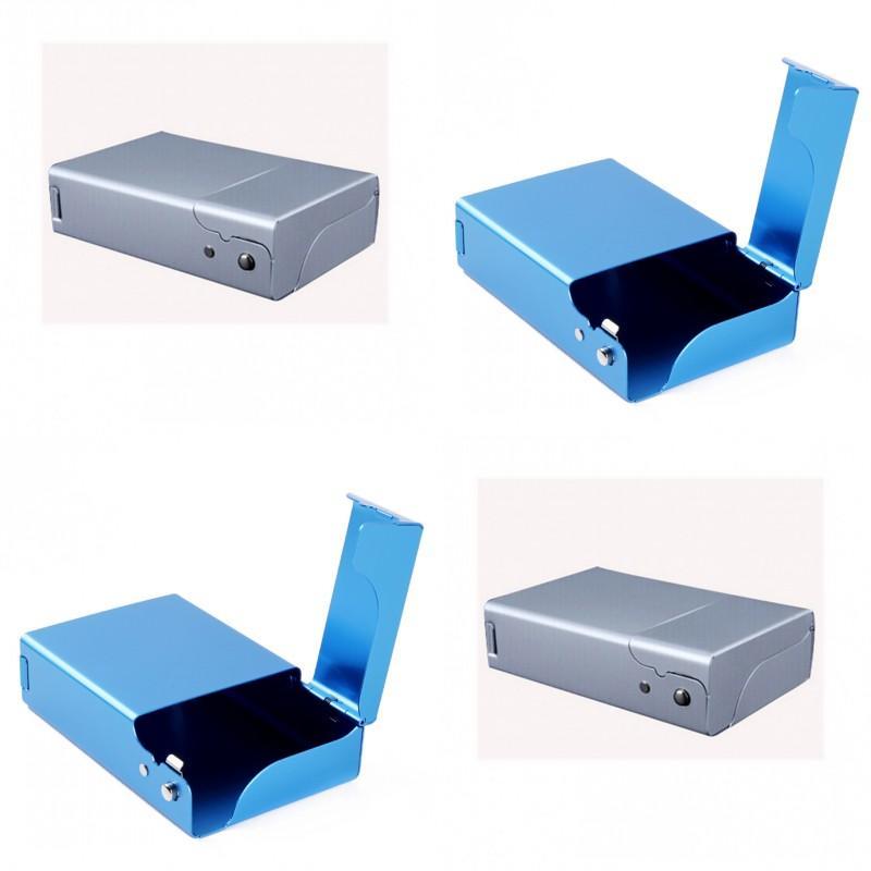 Mode rectangle de cigarette de cigarette en métal pure couleur aluminium d'alliage d'alliage d'alliage casse-tête femmes cadeau cadeau vente chaude 8 4by j2