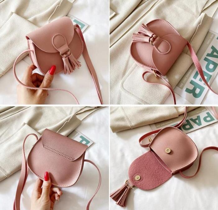 Baby Coin Purse Leather Kids Mini Cross Body Messenger Bag Tassel Toddler Shoulder Bags Tote Kids Accessories 7 Colors GWE4807