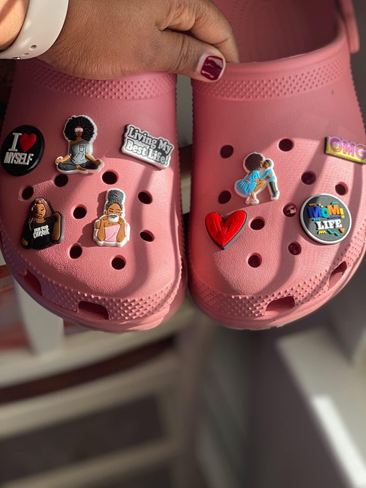 Nero Lives Matter Shoe Charms BLM Black Girls Donne PVC Pin Pin Scarpe Decorazione per Croc Braccialetti Nero Baby Boy Girl Girl Party Favors Regali di compleanno