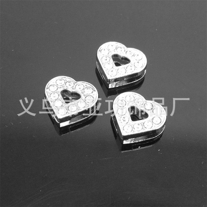 50 pz 8mm full strass stile misto charms charms scorrevole lettere pendenti appendiabiti accessori fai da te adatti cinture da 8 mm, bracciali, collane 463 T2