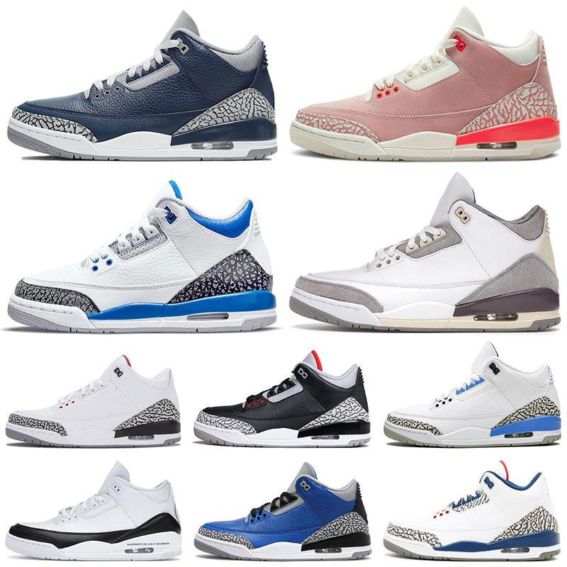 Nike Air Jordan Retro 3 Jumpman Jordans 3 III Men Women Basketball Shoes  Georgetown UNC Racer Blue Rust Pink Black CAT White Knicks Rivals Cour Purple Sports Sneakers Trainers