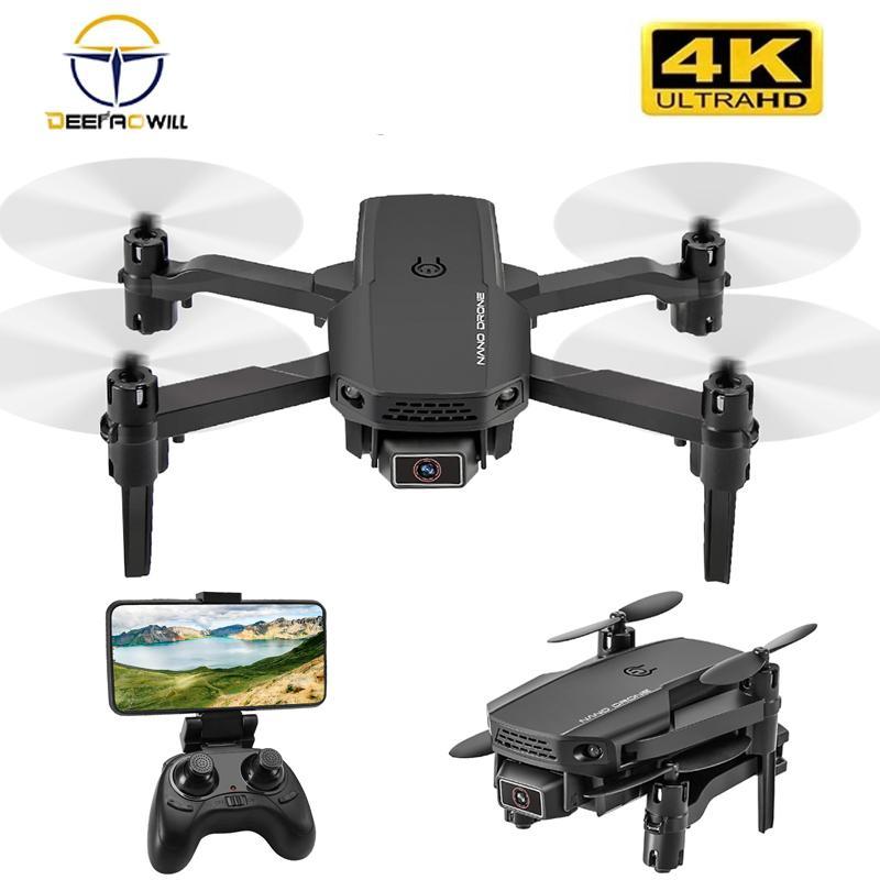 2020 New KF611 무인 항공기 4K HD 와이드 앵글 카메라 1080P WiFi FPV 무인 항공기 듀얼 카메라 Quadcopter 높이 유지 무인 항공기 카메라 Dron Toys