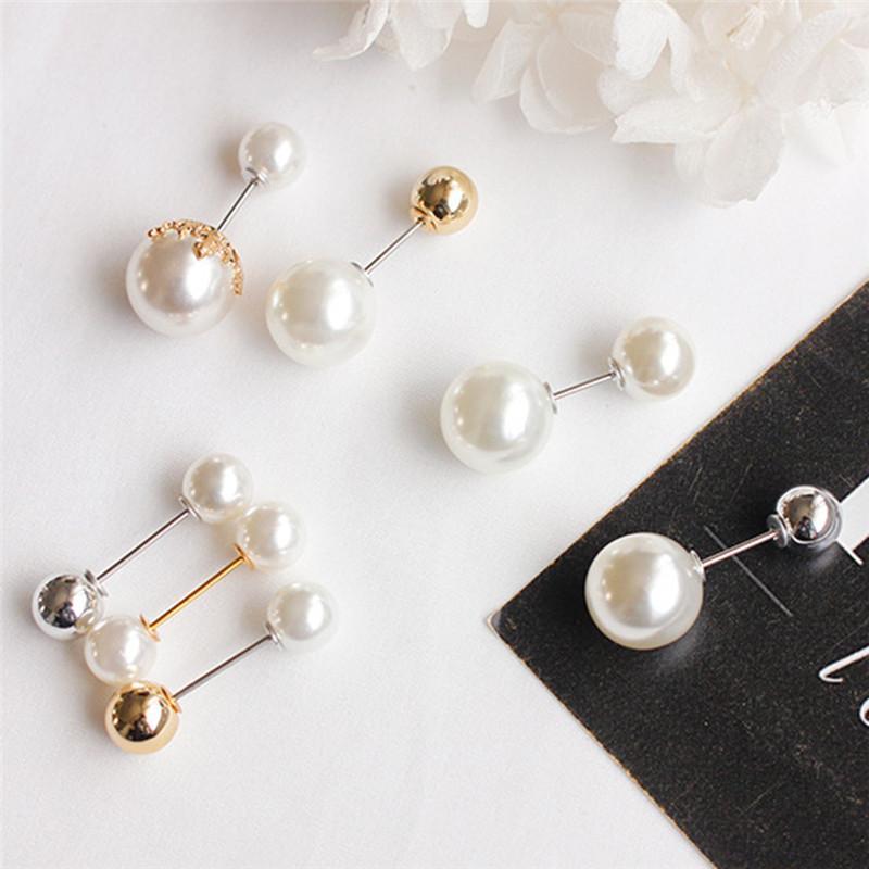 Pins, Broşlar Çift Kafa Vintage Stil Kaplama Clea İmitasyon İnci Büyük Broş Düğün Aksesuarları