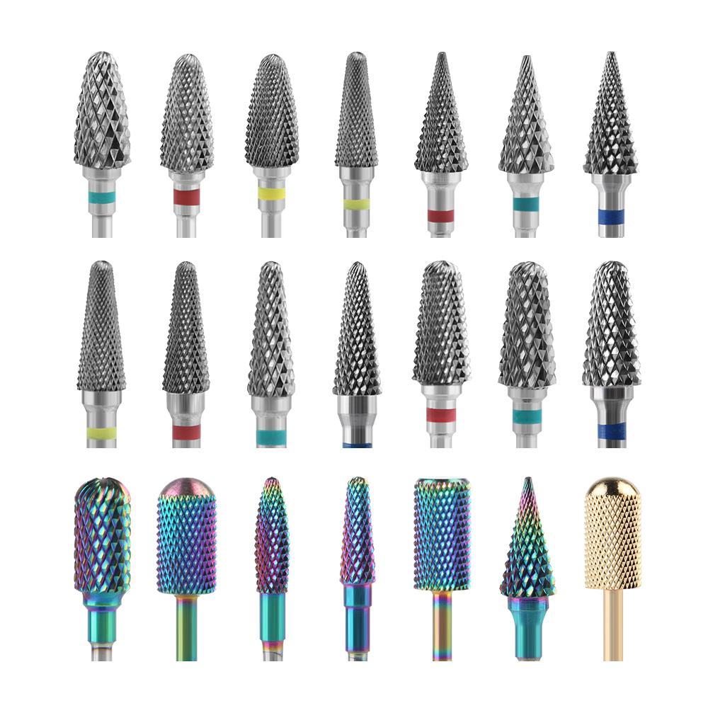 Seramik Freze Manikür Makinesi Karbür Tırnak Matkap Uçları Manikür Tırnak Matkap Makinesi Bitleri için Seramik Karbür Freze Kesiciler