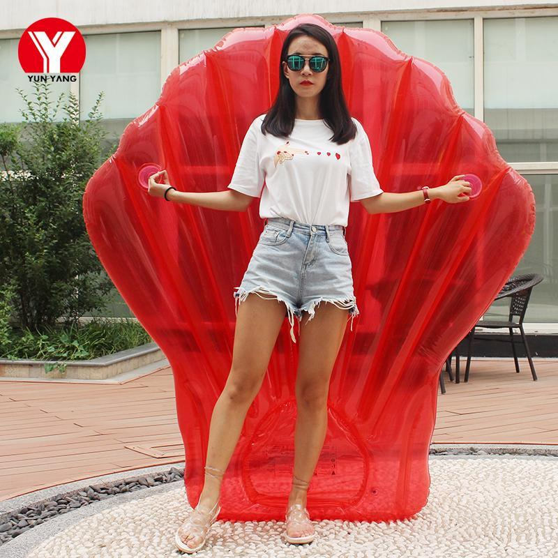 Giant Inflatable Air Mattress for Swimming Red Sea Shell Pool Float Inflatable Swimming Mattress for Adult Water Beach Party Toy
