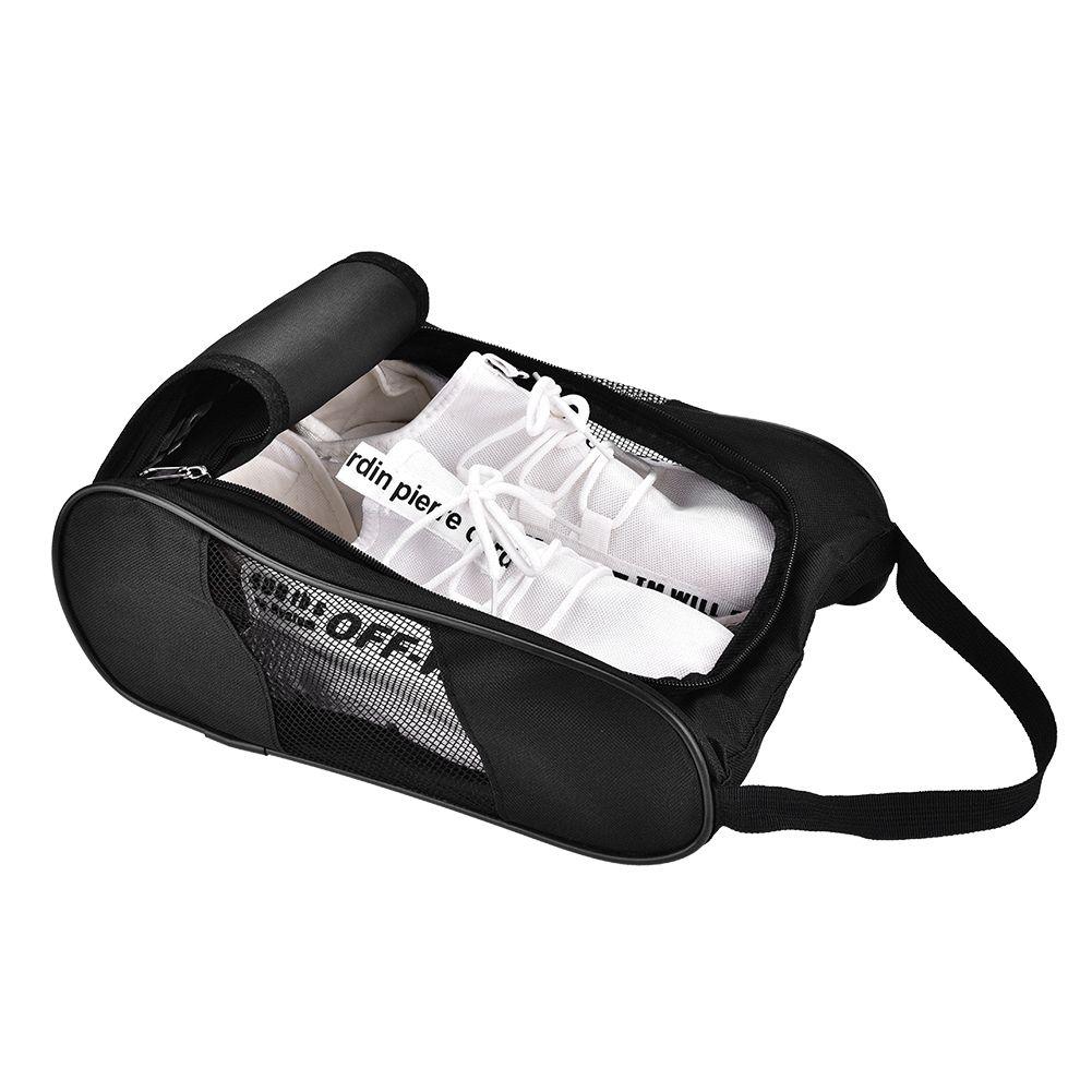 Saco de sapato de golfe respirável portátil saco de esportes zíper sapato sapato de golfe saco de sapato - sacolas de sapato zíper malas de bolsa de bolsa de bolso L0302
