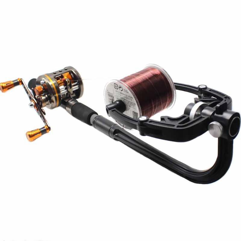 Bagcasting bobinas 1 pc Linha de pesca Winder Portátil Ao Ar Livre Carretel Corda Corda Fast Suave Spinning Tool Acessórios