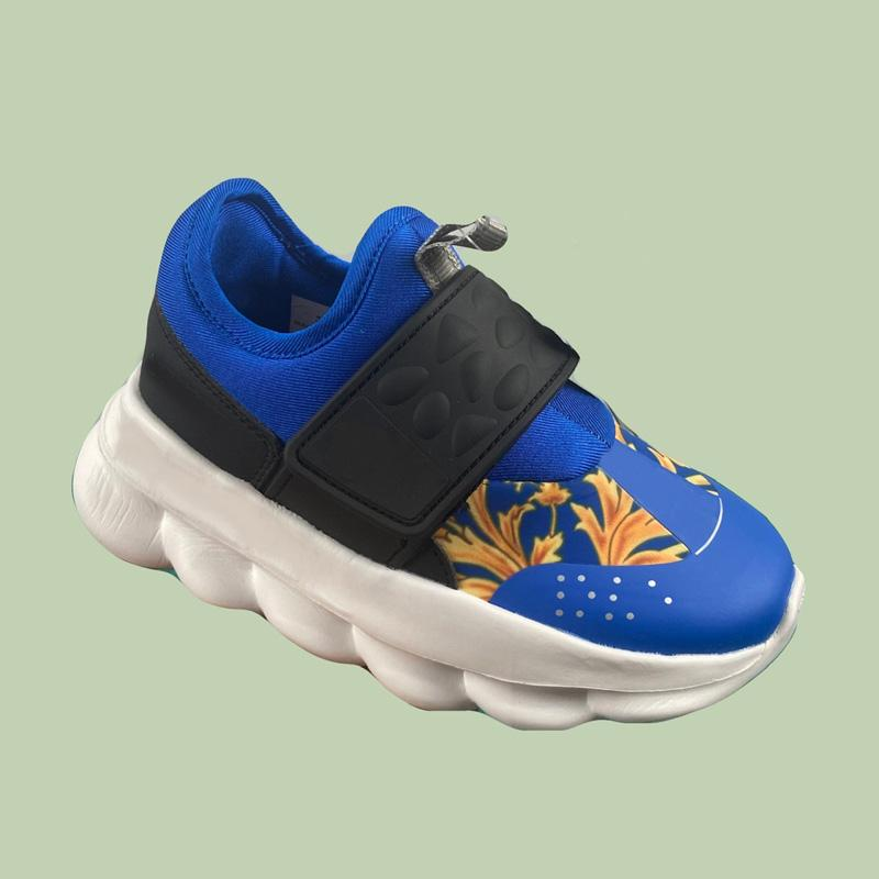 Magic Button 2 مصمم الأطفال تشغيل أحذية قطع منخفضة الصبي فتاة الشباب طفل رياضة رياضة الحجم 26-35