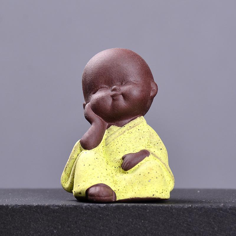 Фиолетовый песок маленький монах чая питомца мини-цветной песок керамики Sibuxiao монах чайные принадлежности аксессуары суккулентный цветочный горшок украшения