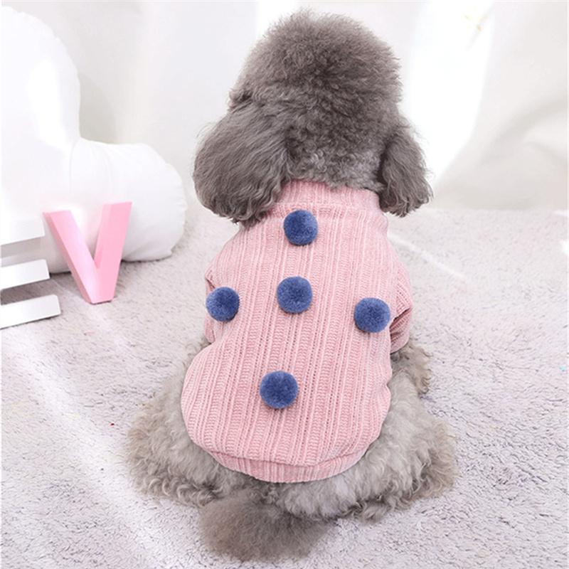 Köpek Giyim Peluş Topu Pet Kazak Kedi Giysileri Kış Yavru Triko Kazak Giyim Sevimli