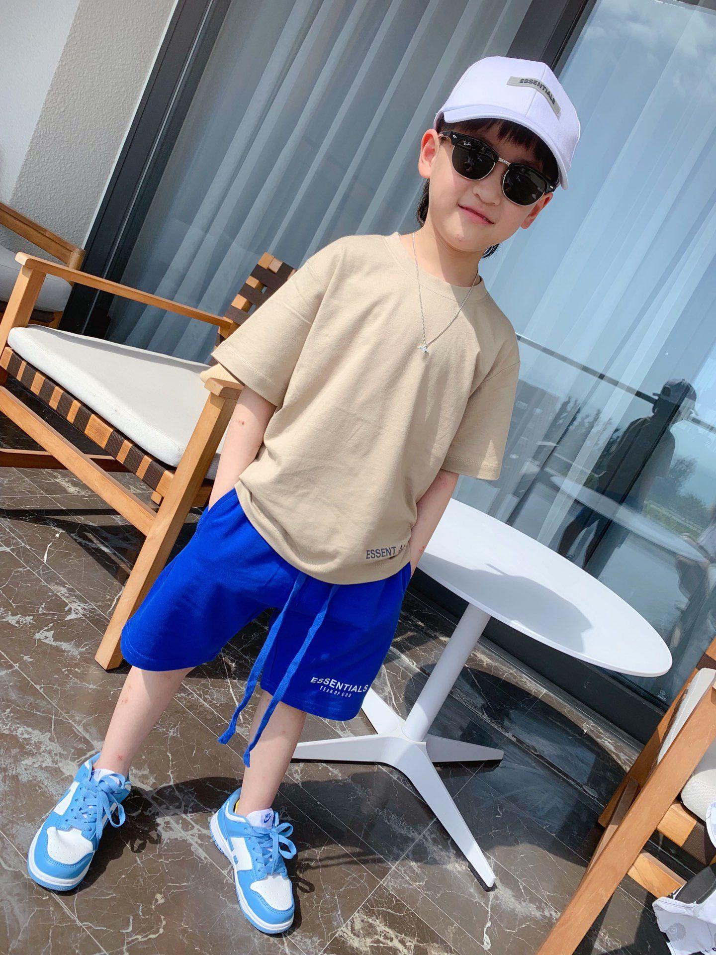 2021 Çocuklar Boy Kısa Pantolon Yaz Bebek Erkek Pantolon Çocuk Moda Yakışıklı Rahat Tee Pantolon Tops