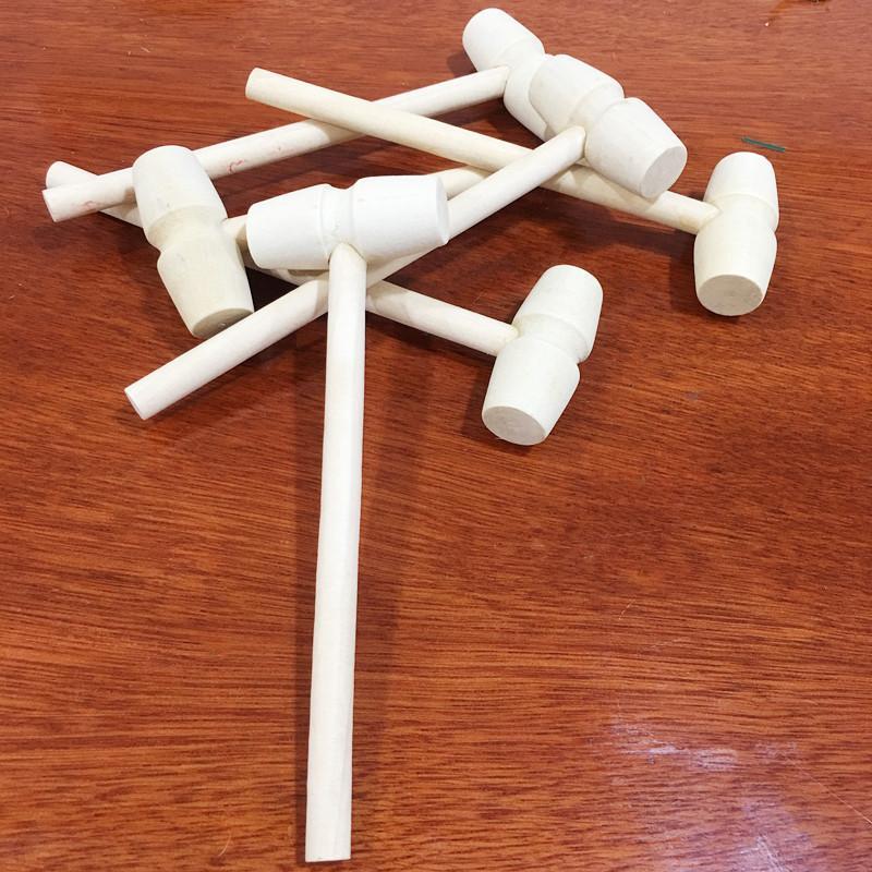 مصغرة خشبية المطرقة كرات لعبة pounder استبدال مطرود الخشب المجوهرات الحرف diy اليدوية رياض الأطفال المواد الإبداعية نظيفة