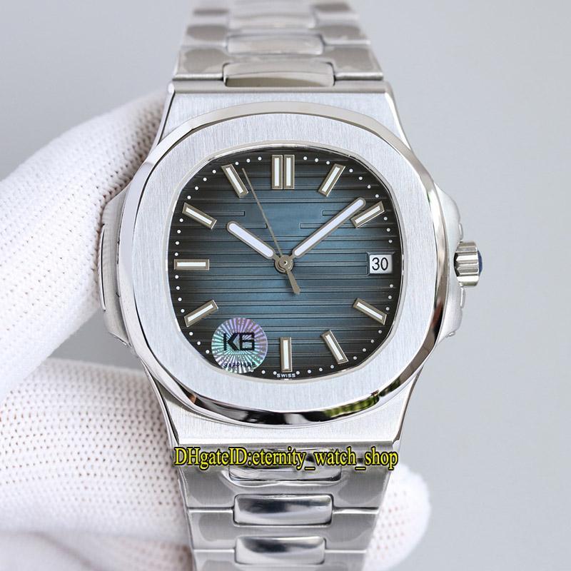 Eternity Sport Watches K6F Últimos produtos 5711 Cal.324 S C Automático Mecânica Azul Textura Dial 40mm Mens Assista Sapphire 316L Caso Inoxidável Pulseira de Aço 0010