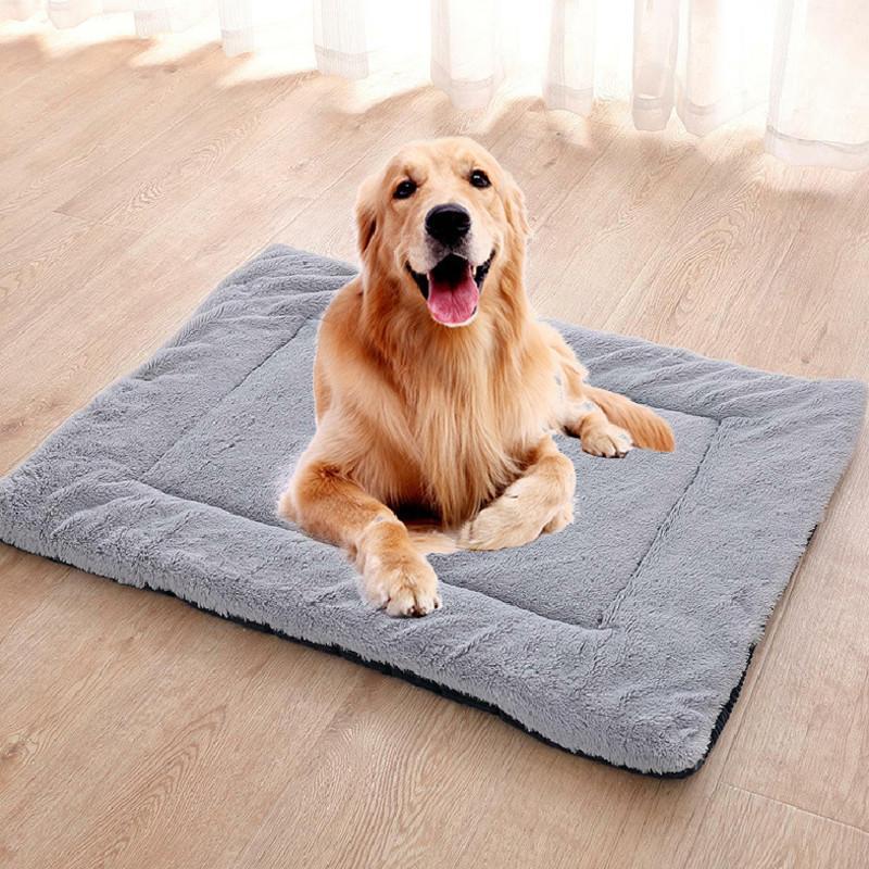 Cão cobertor Casa Pet Cobertor Cobertor Cães Cats Cama Almofadas Cães Cat Mat Macia Macio Almofada Quente Quilt Cama de Algodão Novo 210224