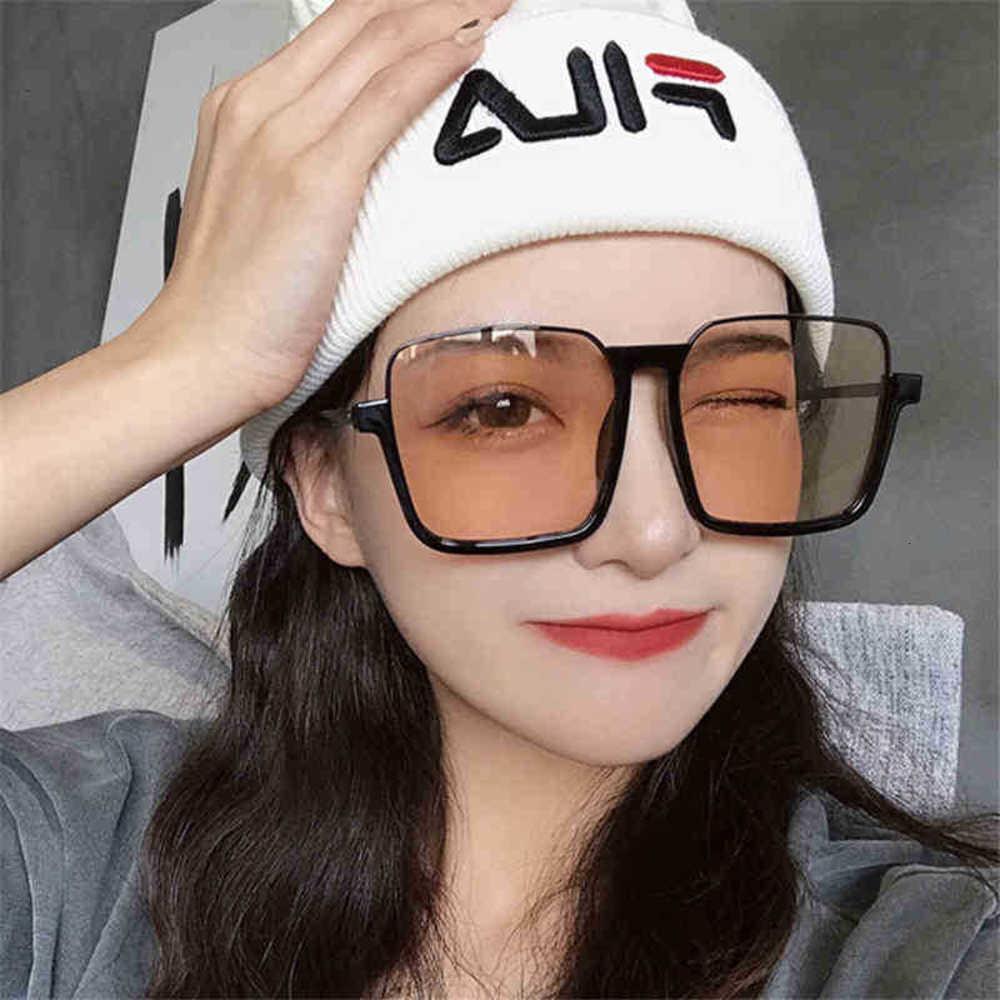 CYBER 90S Vintage Büyük Çerçeve Mavi Işık Engelleme Gözlük Kadın Yarım Jant Güneş Gözlüğü Kore Tarzı Moda Gözlük