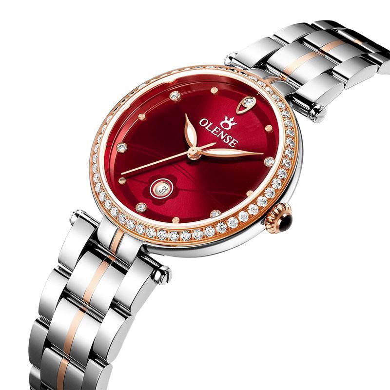 Armbanduhren Rot Gesicht Gold Uhr Frauen Uhren Damen Kreative Stahl Frauen Armband Weibliche Uhr Relogio Feminino Montre Femme