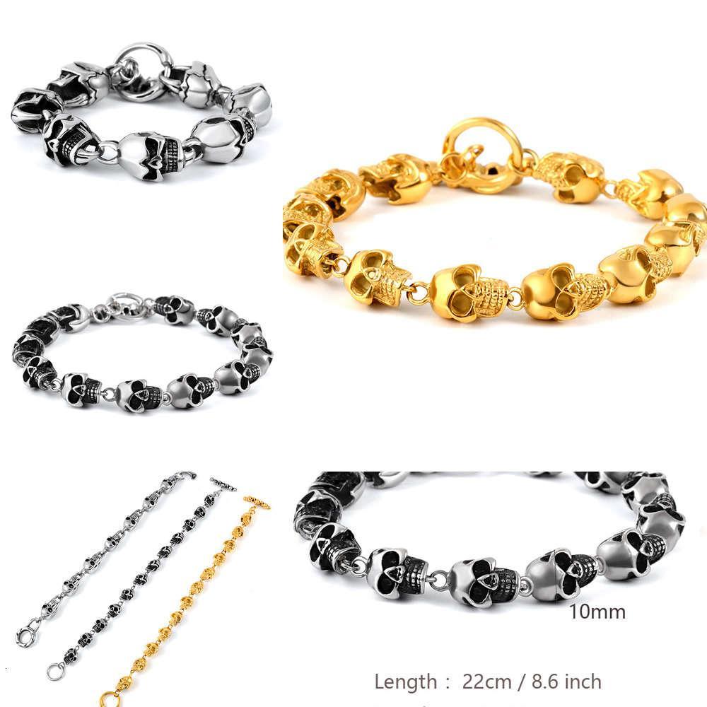 Pulsera Hombre Pesada Industria Sólido Color Stainls Jewelry 365