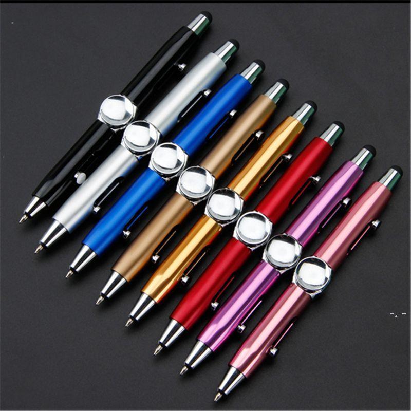 الدوران القلم تململ لعبة الروتاري مكثف لغز التفكير الدوران القلم المعادن الكرة متعددة الوظائف إصبع الضغط القلم DHF5656