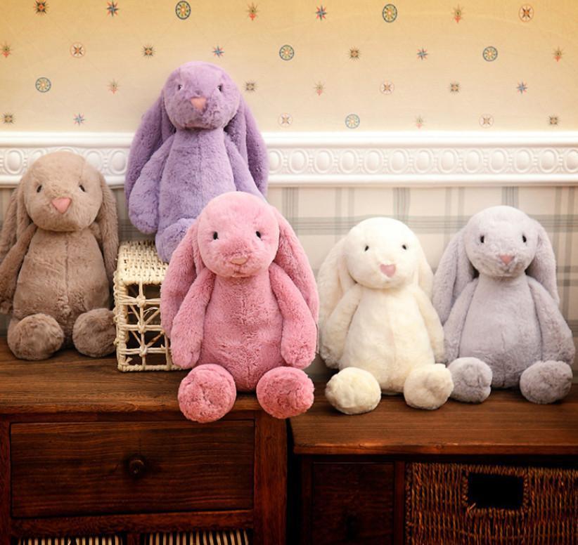Pasqua Bunny creativo bambola giocattolo carino coniglio coniglio coniglio carino farcito neonate giocattoli carino 30 cm regali di festa di Natale