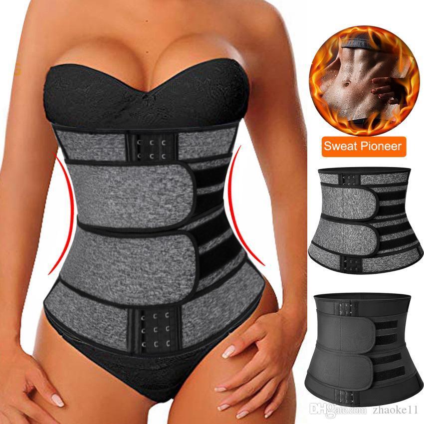 ملابس داخلية النيوبرين ساونا الخصر المدرب مشد العرق حزام للنساء الوزن ضغط المتقلب تجريب اللياقة