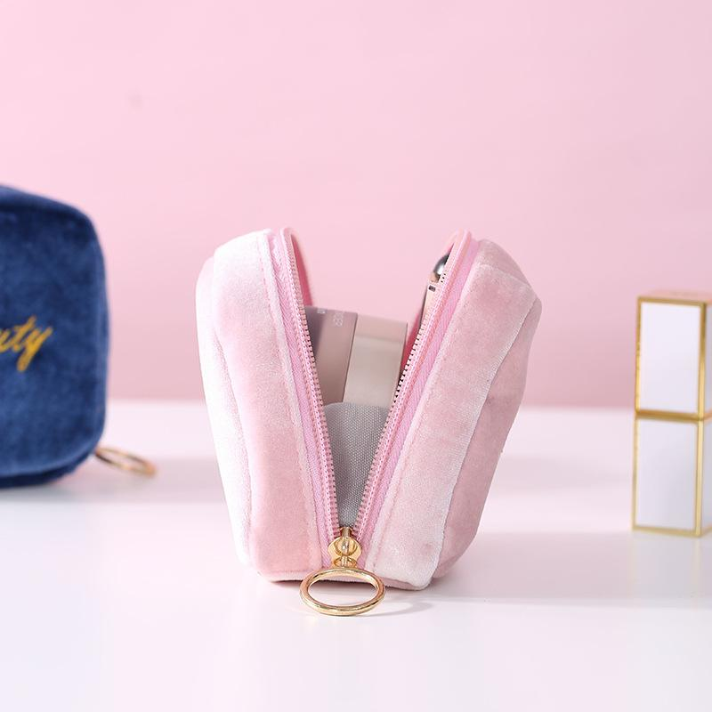 Girl Mini Coin Purse Portable Small Cosmetic Travel Packing Bag Fashion Storage Bags Solid Colors Preppy Style 836 B3