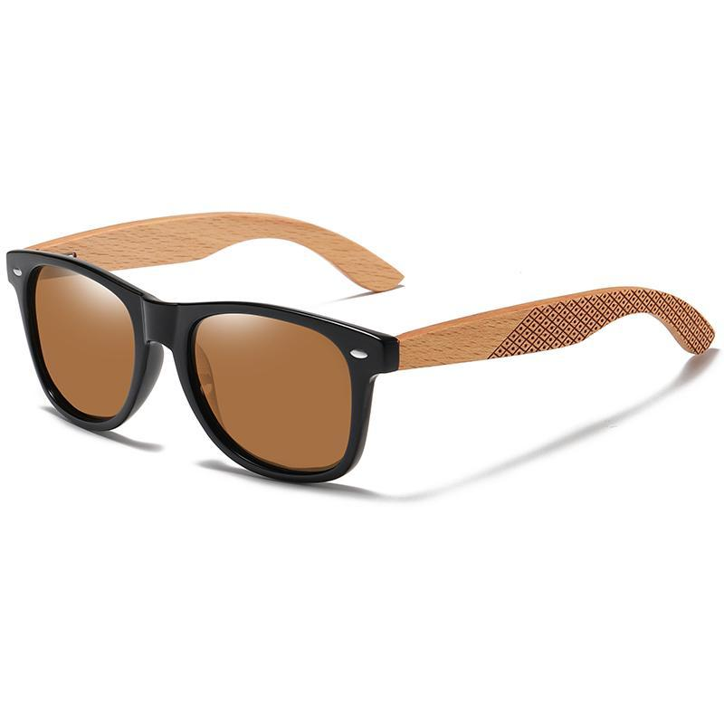 GM Natural Wooden Temptions Sunglasses Moda uomo Quadrato Eyewear Shades Feminino Brand Designer S7062