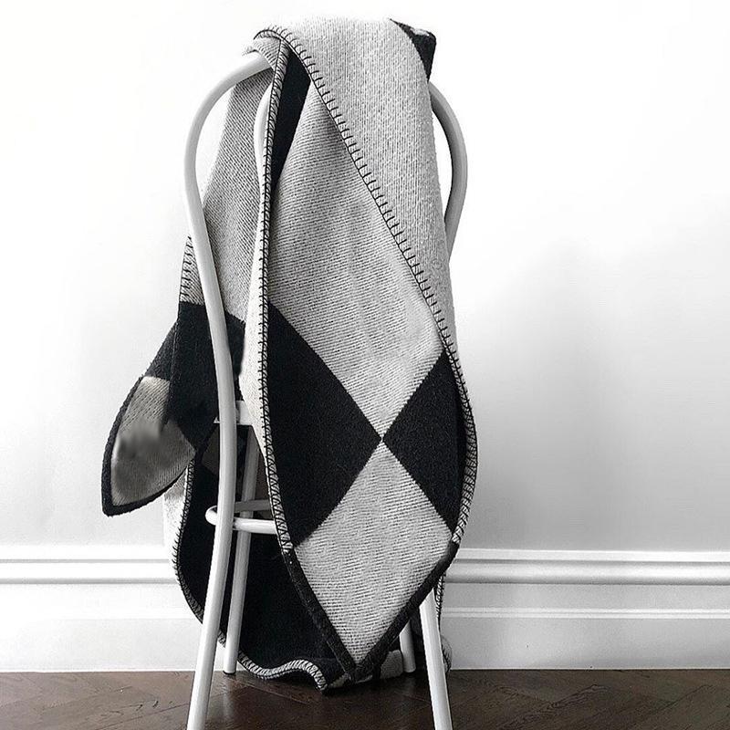 Классические вязаные одеяла шерстяные одеяла дизайнер кашемировые шали плед мягкое бросить одеяло путешествия кемпинга кровать дома диван текстиль