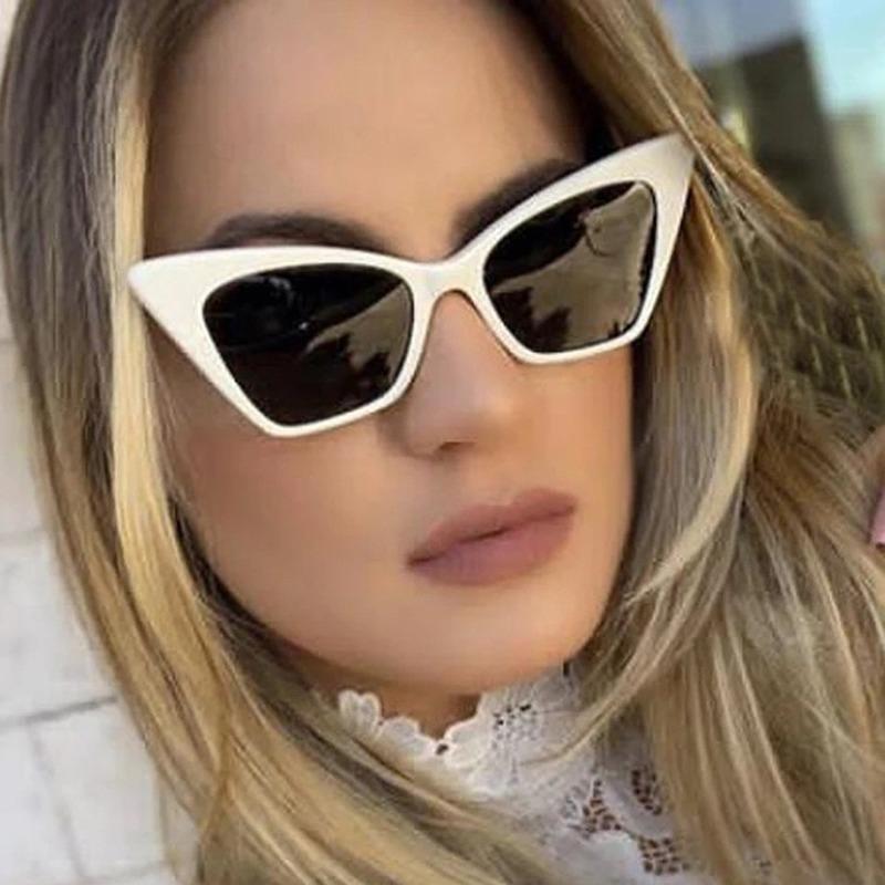 Солнцезащитные очки Abay Brand Fashion Cat Eye Женщины Leoapd Street Patwalk Съемка All-Machh Retro Вождение UV400CULOS