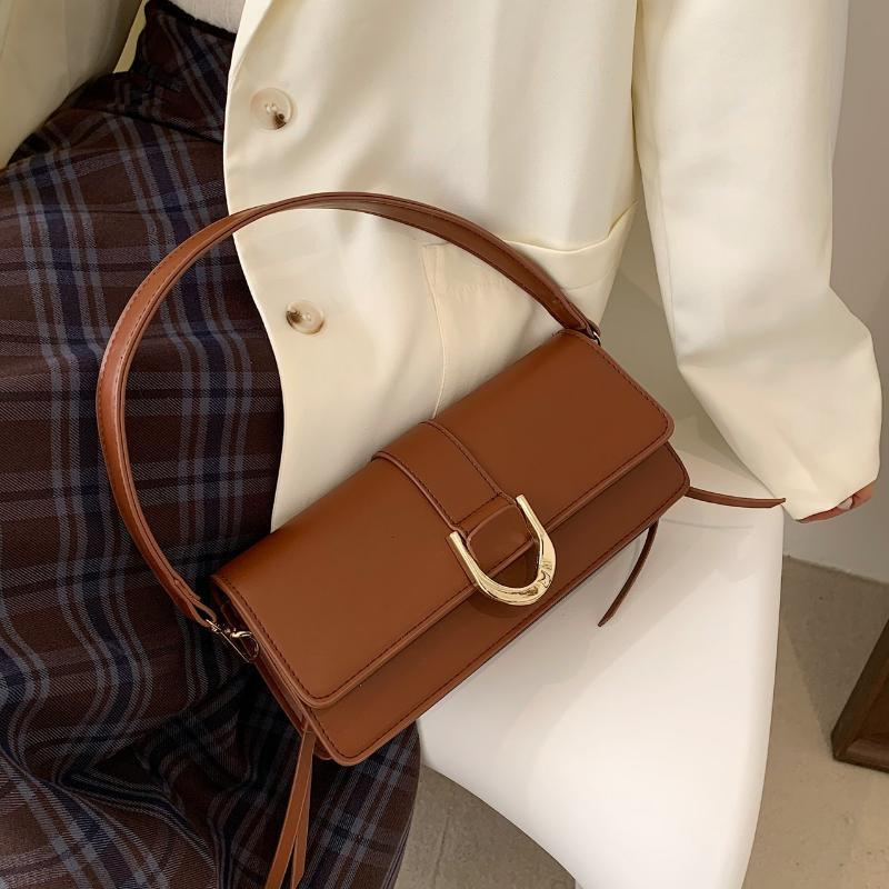 Bolsa de color sólido Baguette Hombro Subvarm A Subvenciones MUJERES DISPONIBLES 2021 Cuero Nueva PU de mujer para bolso Llegadas de lujo Pequeño Ouadd