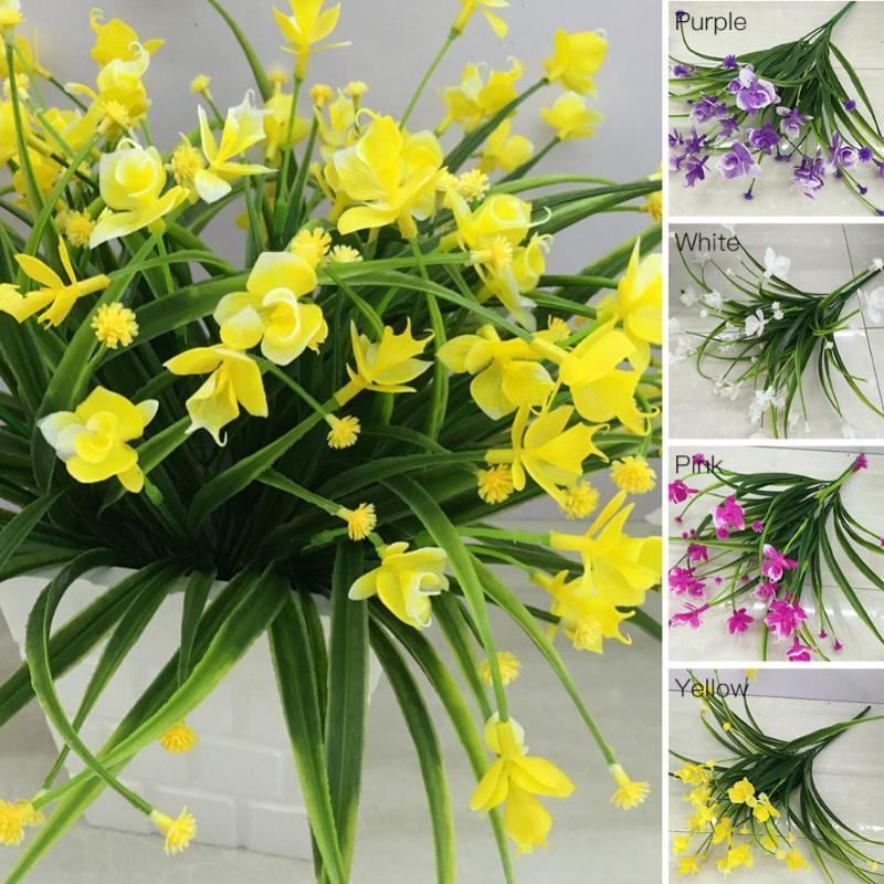 1 пучок (1 букет = 21 голов) искусственные цветы с листьев свадебные украшения моделирования Phalaenopsis цветок домашнего декора P20