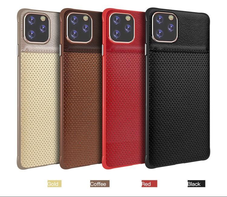 For iphone 11 pro pu leather cell phone cases dot designer slim back cover fashion