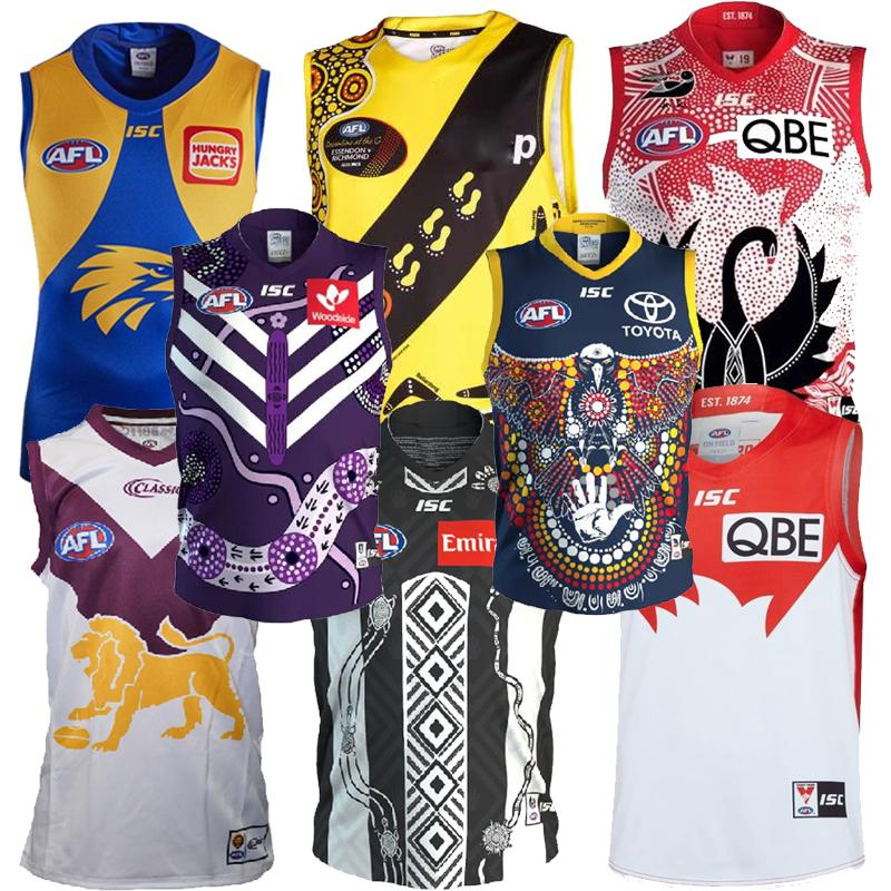 2020 2021 Fremantle Dockers Richmond Tigres Gigantes Gatos Essendon Tasmânia Costa Lions Rugby Jerseys Afl Jersey League Camisa Veste