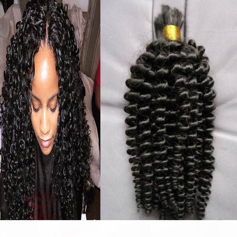 Бразильские плетеные наращивания волос 100 г Без уток человеческие волосы навалом для плетении kinky вьющиеся сыпучие человеческие волосы оптом