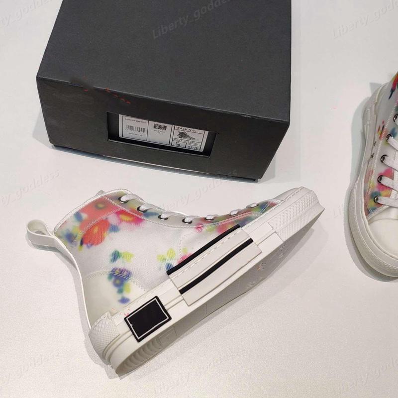 dior shoes 2021 Neue Limited Edition Benutzerdefinierte Leinwandschuhe, Mode Vielseitige Hohe und niedrige Schuhe, mit Originalverpackungsschuhgröße 35-45