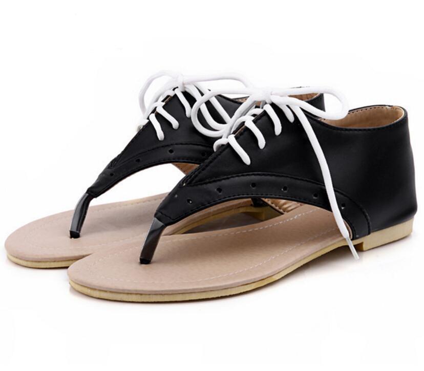 Sandalias Mujer verano Flat Ladies Casual Classic Calzado Mujeres Flip Thong Flips Lace Zapatos de estilo británico Zapatos Mujer F181666