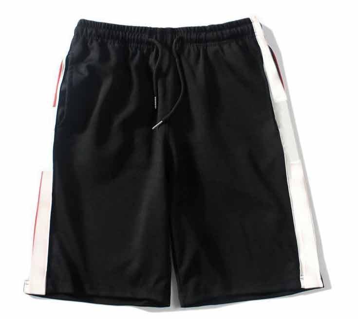 Shorts masculinos de verão com letras moda casual cintura elástica de alta qualidade Sportswear M-2XL número