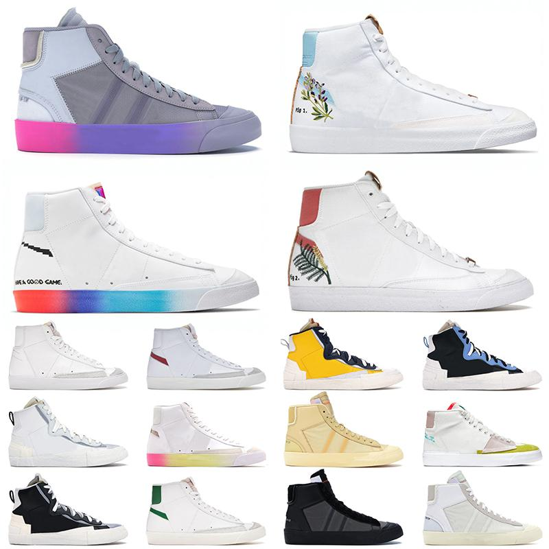 Ayakkabı Nike Blazer Mid 77 Vintage Off White Sacai Erkek Kadın Koşu Ayakkabısı Catechu Indigo Have A Nik Good Game Racer Black Pine Green Spor Sneakers Eğitmenler