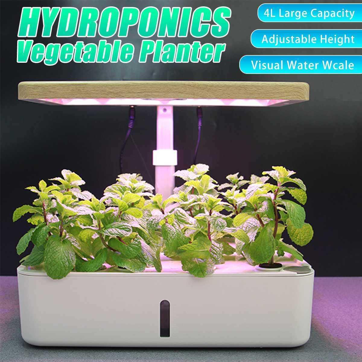 Lampe de bureau HYDROPONIC HYDROPONIC HERB GARD KIT SMART MULTI-FONCTION CROISSION LED LED pour la croissance de la plante végétale de fleurs 210615