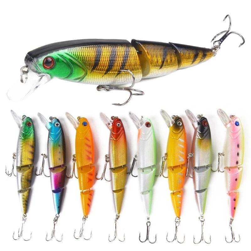 1 unids de señuelo de pesca con unión 10.5 cm / 15 g Minnow Plastic Pesca artificial Herramientas de Wobbler Herramientas Jerk Fish ESCA Tackle C0222