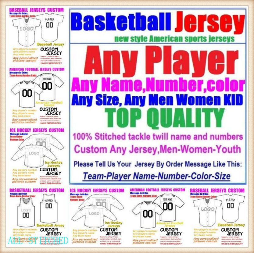 Пользовательские баскетбольные бейсбольные хоккеи льда мужские женщины дети американский футбол трикотажные изделия спортивные пара неприкасаемые 2021 трикотажные наборы 4XL 5XL 6xL