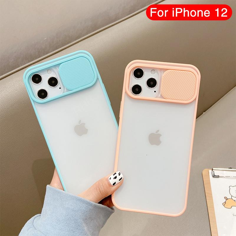 2021 New Camera Lens Protection Phone Case on Pro Max Sile Ee Pc Backplane for Iphone 12 Mini Color Candy Back Cover Wdph