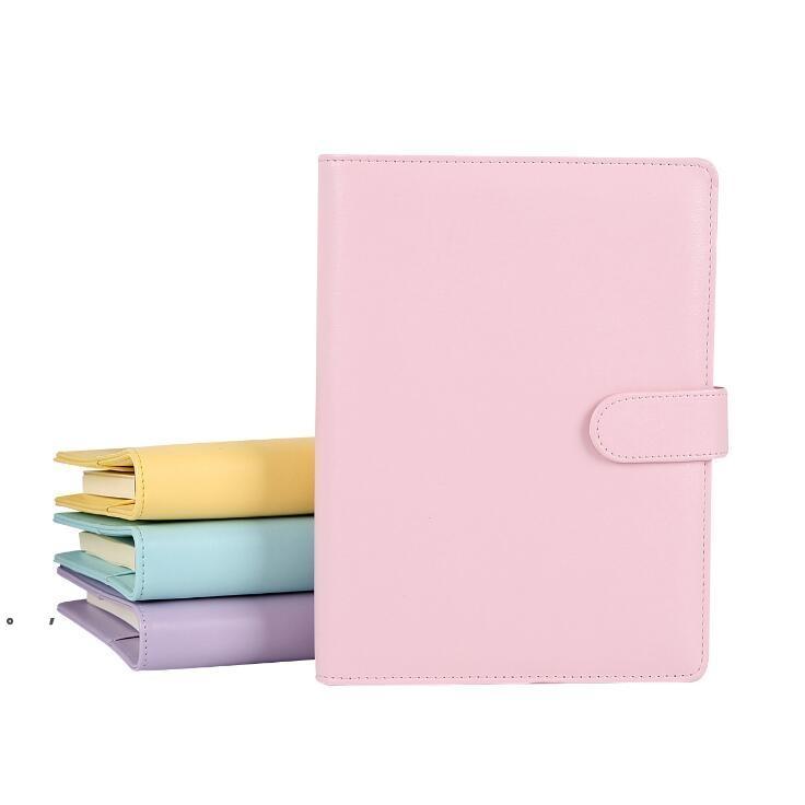 Notebook vide Bornder Notebooks à feuilles en vrac sans papier PU Faux Cuir Cover File Dossier Spiral Planificateurs Scrapbook 4 Couleurs A6 BWA8728